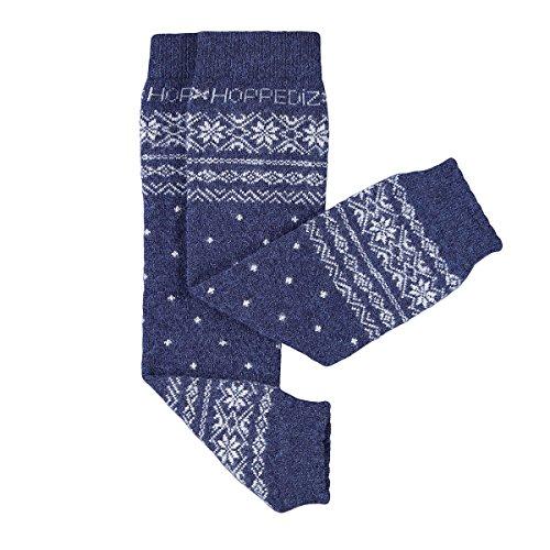 HOPPEDIZ® Baby-Stulpen aus Kashmir/Merinowolle Norweger-Design Blau