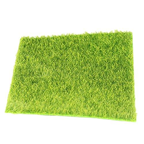 Kentop Künstliche Rasen Simulation Mikro Landschaft Rasen Deko für Garten Balkon Haus Miniatur Garten Size 30×30cm