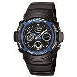 CASIO カシオ G-SHOCK アナデジコンビモデル AW-591-2Aブルーメタルベゼル メンズ 腕時計 【逆輸入品】