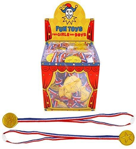 6 x Enfants Gagnant doré Médailles Cadeaux Jour De Sport Jeux Prix Remplissage De Sacs À Surprises Jouet
