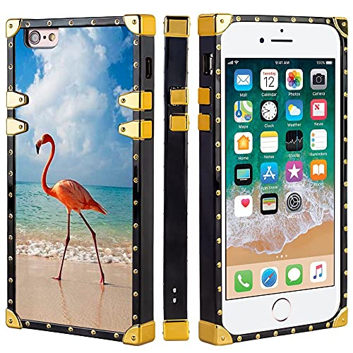 Naikuyi Funda para iPhone 6 Plus (6+) / 6S Plus (6S+) - Funda cuadrada para teléfono con 4 esquinas Protección de búfer fuerte pero no pesada
