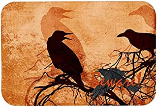 Caroline's Treasures SB3009CMTBeware of the Black Crows Halloween Kitchen or Bath Mat, 20 by 30, Multicolor