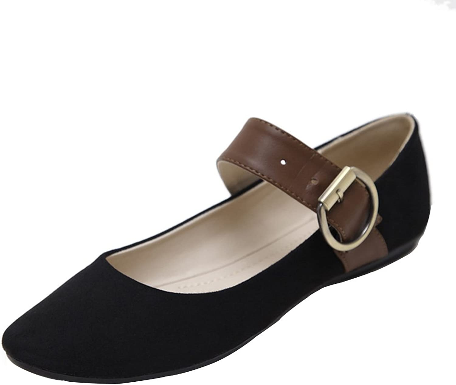 Kyle Walsh Pa Round Toe Ballet Flats Soft Comfort Buckle Slip On