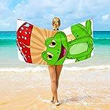 Olie Cam Toalla de baño de Rana y Setas de Dibujos Animados Mantas de Microfibra Toalla Grande Toalla de Playa Gimnasio Yoga Toalla para niños