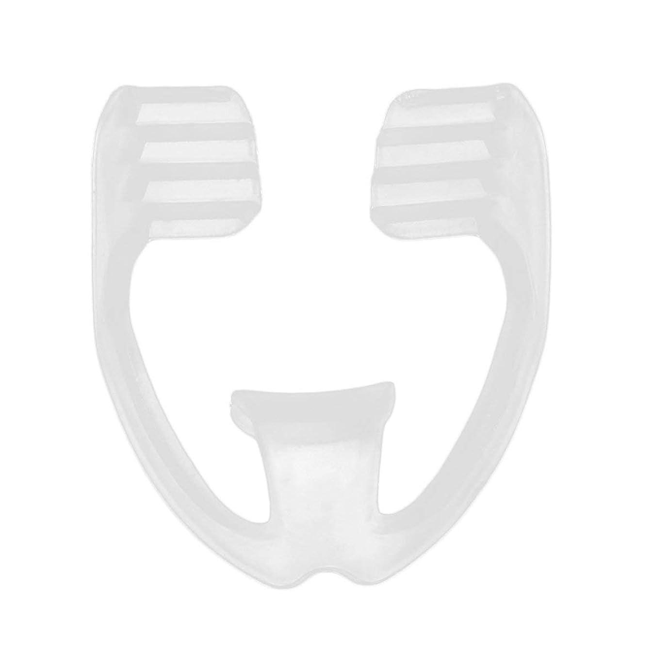 餌長くするリブユニバーサルナイトスリープマウスガードストップ歯ひび割れ防止いびきボディヘルスケア睡眠補助ガード - 透明