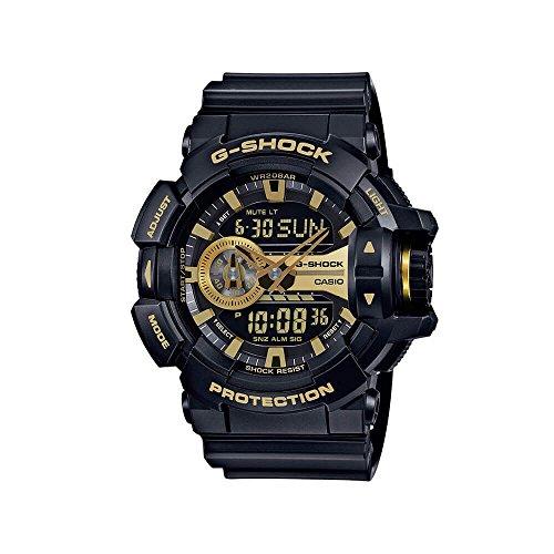 Orologio Casio G-Shock GA-400GB, serie Garish, da uomo, colore nero / oro, taglia unica