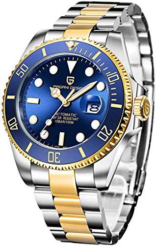 Pagani Herren-Armbanduhr, Japanisches Uhrwerk, wasserdicht, Saphir, erste Marken, für Herren,kinetische Uhrwerk