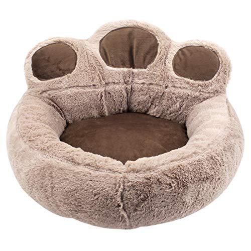 Weichuang Katzenbett Hundebett für Welpe Kleine Hunde Warm Plüsch Katzensofa Hundesofa Weich Katzenkissen Hundekissen Bärentatzen-Design Haustierbett #1 S: 40 * 45cm