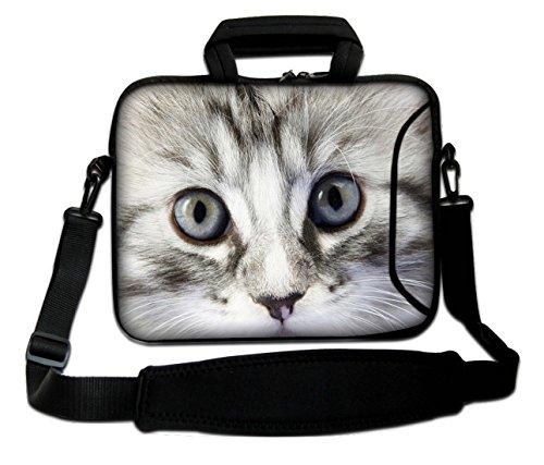Ektor Laptoptasche für 10-17,6 Zoll Laptops mit Schultergurt Pussycat Eyes 30,5 cm (12 Zoll) (aktuelle Größe: 250 x 300 mm)