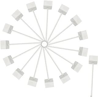 TOOGOO 4 piezas de gancho de S forma de plastico de color blanco de marfil de suspension para el bolso de compras de ropa