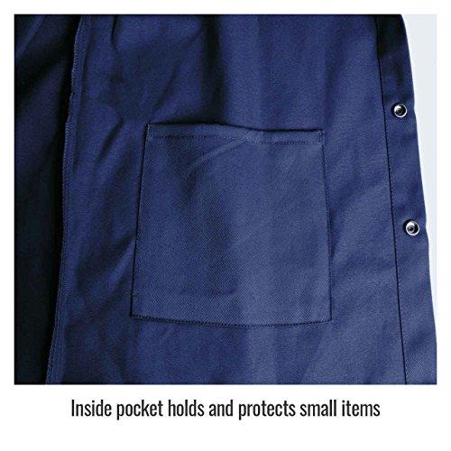 Product Image 4: Black Stallion FN9-30C 30″ 9oz. Navy FR Cotton Welding Jacket, Large