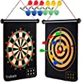 Yuham Magnetic Dart Board Indoor Outdoor Games for Kids and Adults with 12pcs Safe Darts, Easily Hangs Anywhere