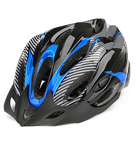 MBUHJ Casco Bicicleta con Visera Seguridad Ajustable Desmontable, Unisex Cascos Bici Adultos (Blue)