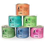 catz finefood Feinkost Katzenfutter nass Multipack 2, Sorten Mix-Paket 2 mit Huhn, Thunfisch, Rind, Rotbarsch, Lamm, Garnelen, Wild, 6 x 200 g Dosen