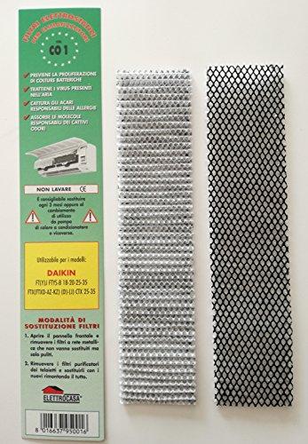 CO1 - 2 filtros electrostáticos para climatizador de aire acondicionado