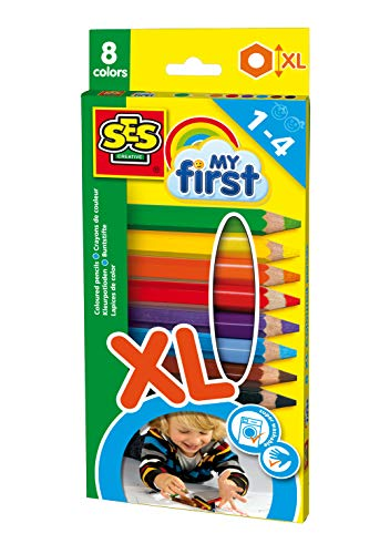 Ses France - 14416 - 8 Crayons De Couleurs - My First