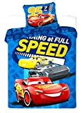 Disney Cars Cot Bed Duvet Cover Set 100x135 + 40x60 cm Cotton