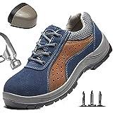 HOAPL Hombres Botas de Seguridad con Punta de Acero Trabajo a Prueba de pinchazos Zapatillas Ligeras Zapatos Transpirables Zapatos Protectores a Prueba de pinchazos,44