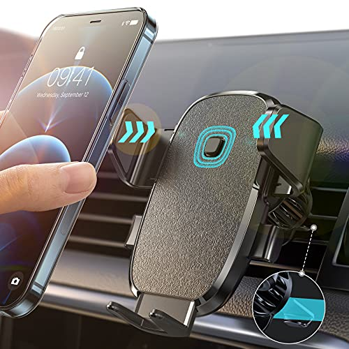 LISEN Phone Holder for Car, AUTO Locking Phone Mount Car with Hook Like...