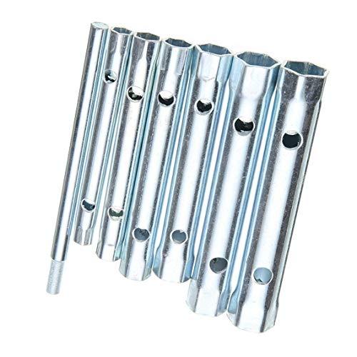 7 piezas fontanero tuerca trasera grifo bujía llave duel-end llave zócalo 8-19mm