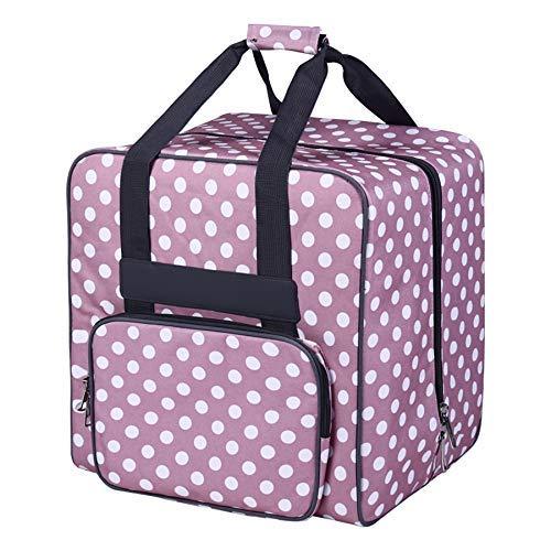 Ireanj, borsa per macchina da cucire, portatile, accessorio per la macchina da cucire, trolley per macchina da cucire, compatibile con la macchina da cucire, rimorchio, colore rosa