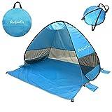 BaiYouDa Automatic Pop Up Beach Tent Sun Shelter Cabana 2-3 Person UV Protection
