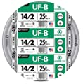 Southwire 13054221 14/2 WG UF Wire 25-Foot