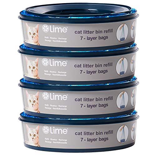 wellap Katzen Nachfüllkassette für Litter Locker II & Litter Locker Design (4er Pack)
