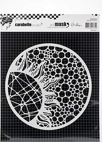 Carabelle Studio Art Mask Schablone, Rund, Diese Sonne von Alexi zum gestalten von Gemusterten Hintergründen und Erstellen von Kunstwerken und Bastelprojekten