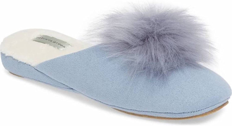 Patricia Green Women's Pretty Pouf Light bluee Slipper
