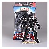 LANMEISM Figura de acción Iron Man Capitán América Figura Spiderman Black Panther Iron Man Hombre Figura Toys Juguetes para niños (Color : 04 17cm)