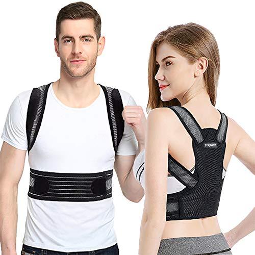 """Posture Corrector for Women and Men, Sixport Back Brace, Adjustable Kyphosis Brace, Comfortable Scoliosis Back Humpback Correction Belt for Students & Children & Adult (Waistline 29-32"""")"""