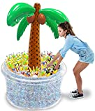 TURNMEON 200+ Cans Super Large Capacity 72' Giant Inflatable Palm Tree Ice Cooler, Beach Party...