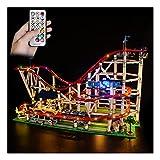 LAIQIAN Set di luci a LED per Il Modello di Montagne Russe Lego Creator, Compatibile con i mattoncini Lego 10261 Creator Expert per l'illuminazione delle Montagne Russe - Senza Set Lego