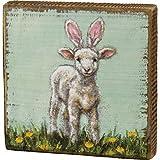 Primitives by Kathy 109172 Holzkiste Schild (Lamb Bunny Ears)