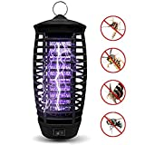 "QUTOP Electronic Bug Zapper Mosquito Killer Lamp Zap Fly & Insects Trap for Indoor Use L x 3.54""W x 8.27""H, 01-Black"