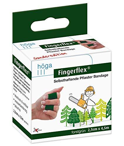 Fingerflex forstgrün Selbsthaftende Pflaster Bandage, elastisch, reißbar, wasserbeständig, latexfrei