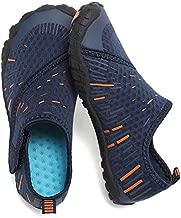 CIOR Boys & Girls Water Shoes Quick Drying Sports Aqua Athletic Sneakers Lightweight Sport Shoes(Toddler/Little Kid/Big Kid) U1ELJSX011-Navy.orange-35
