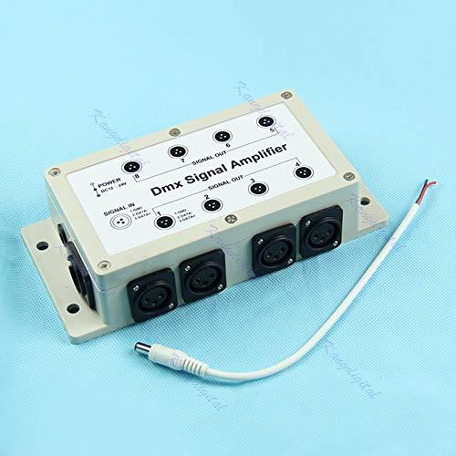 Yintiod Ausgang DMX DMX512 LED Controller 8 Kanal Signalverstärker Splitter Verteiler