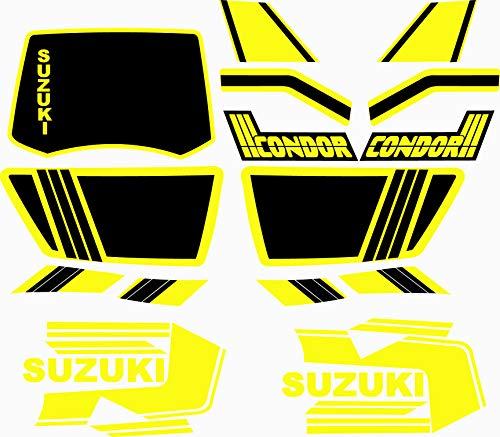 Aufkleber für Motorräder Suzuki Condor – komplettes Set – Vinyl für Motorrad, höchste Qualität.
