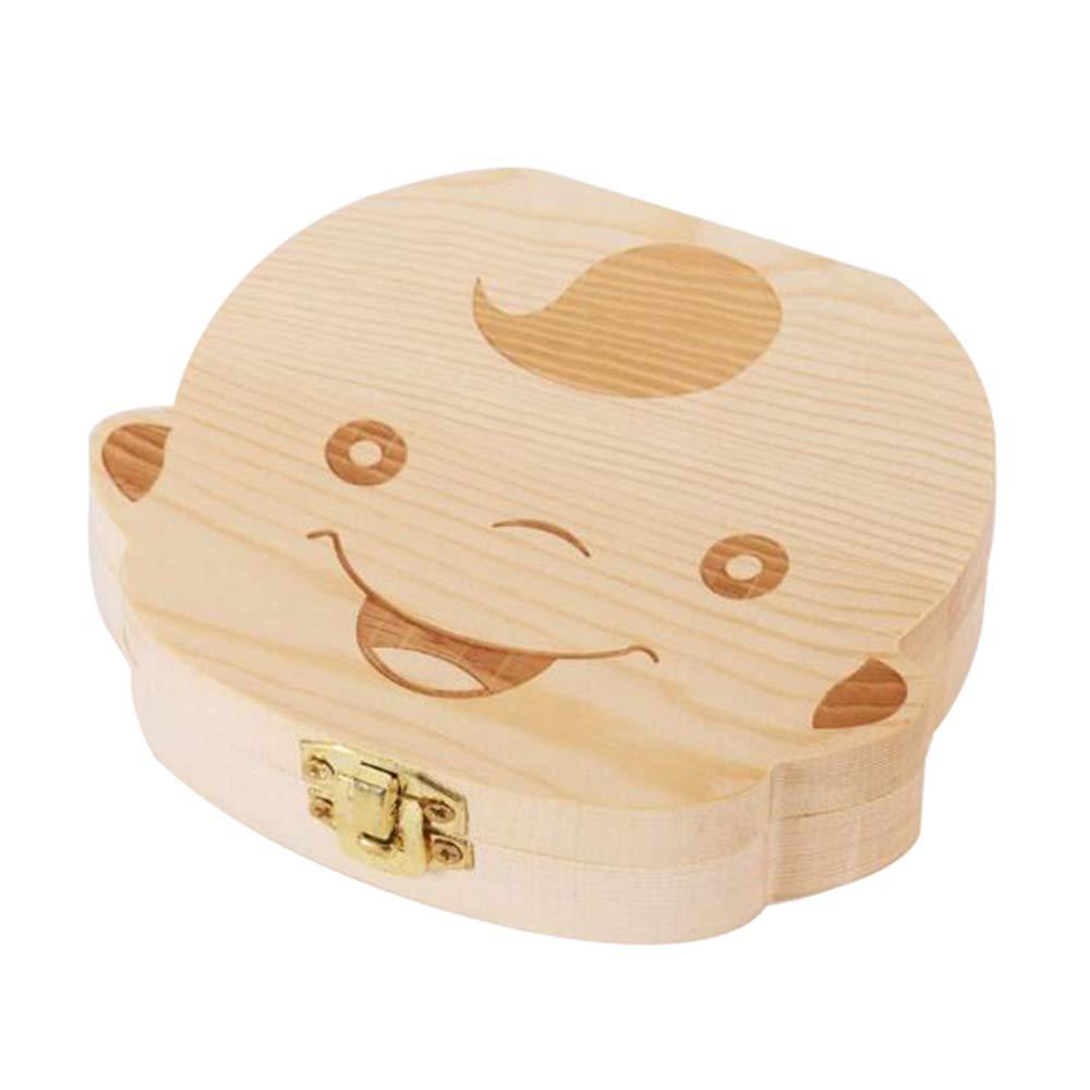 Caja de madera de dientes para bebé, de LAAT, para dientes de leche, para niños y niñas, niño, 12.5x11.5x3: Amazon.es: Hogar
