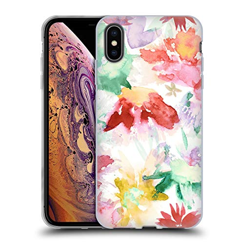 Head Case Designs Oficial Ninola Color de los Recuerdos de Primavera Floral Carcasa de Gel de Silicona Compatible con Apple iPhone XS MAX