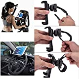 Universal Portable 360° Rotation Steering Wheel Car Mount Clamp Holder for Apple iPad Mini 1/2/3/4 and iPad pro 9.7-11 inch (for 3.5-11.5 inch Tablet)