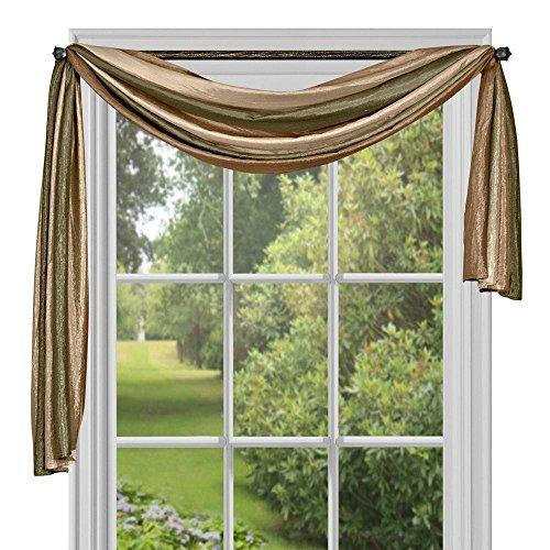Achim Home Furnishings Ombre Window Curtain Scarf, 50 x 144, Earth