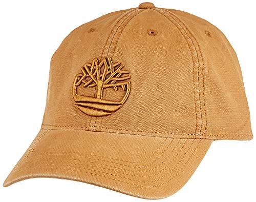 Timberland Men's Cotton Canvas Baseball Cap, Wheat, 1 Size