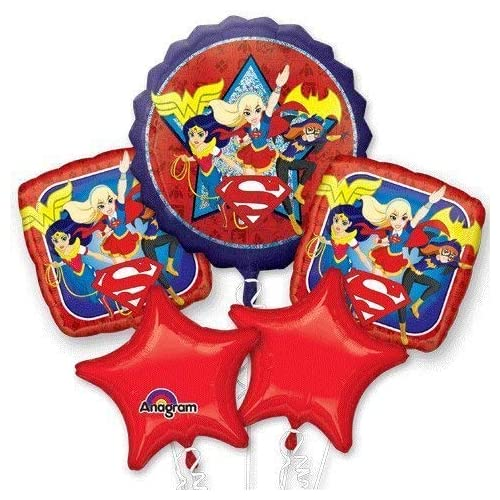 DC Super Hero Girls Birthday Balloon Bouquet