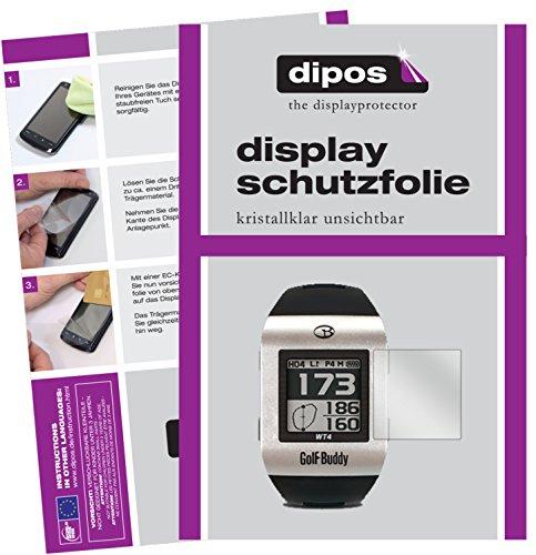 dipos I 6X Schutzfolie klar kompatibel mit Golfbuddy WT4 Folie Displayschutzfolie