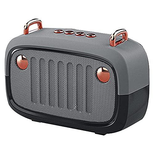CHOEC Pequeño Altavoz Portátil Retro Altavoz Bluetooth, Tarjeta De Radio FM Reproducción De Manos Sin Manos Llamada Más Grande Volumen Compacto Y Portátil Tiempo De Reproducción 3-4