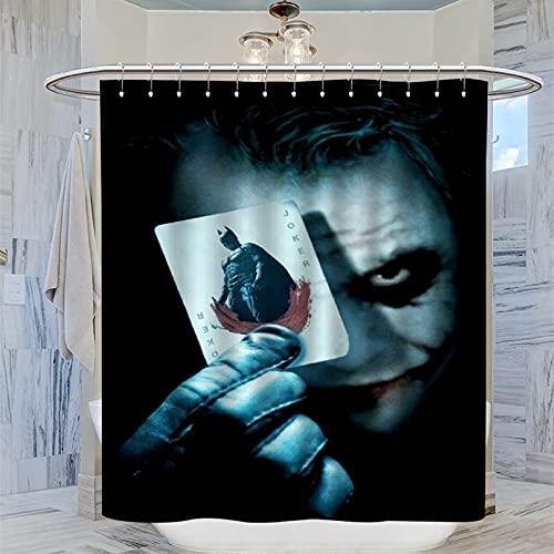 Joker Jacques Phoenix Batman's Enemies American Criminal Mind Thrillers Poker Blood Batman personalisierter Duschvorhang für Badezimmer-Duschen, Bodenstände & Badewannen, 183 x 183 cm
