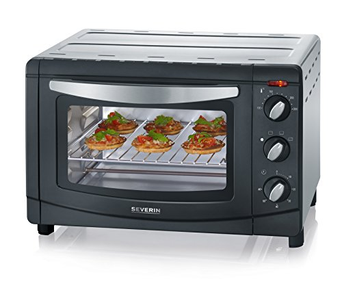Severin to 2060 Mini Oven, 20 Litre, 1500 W, Black/Silver